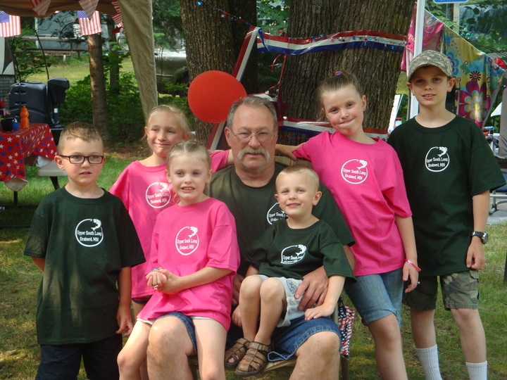 Papa And His Grand Kiddos! T-Shirt Photo