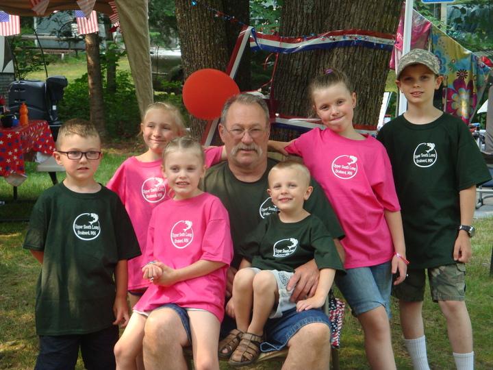 Papa And His Grand Kiddos! T-Shirt Photo
