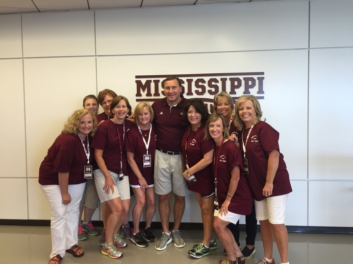 Ladies Football Clinic At Mississippi State University T-Shirt Photo