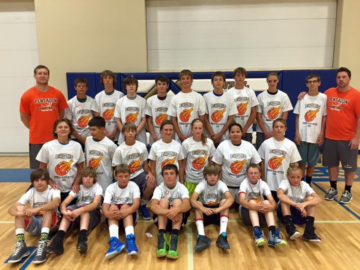 Wall Eagle Summer Basketball #Summertogetbetter T-Shirt Photo