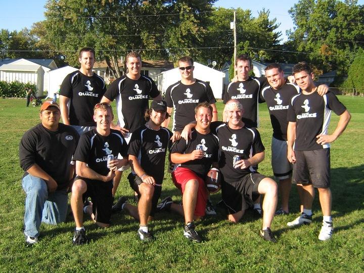 The Quacks Flag Football T-Shirt Photo