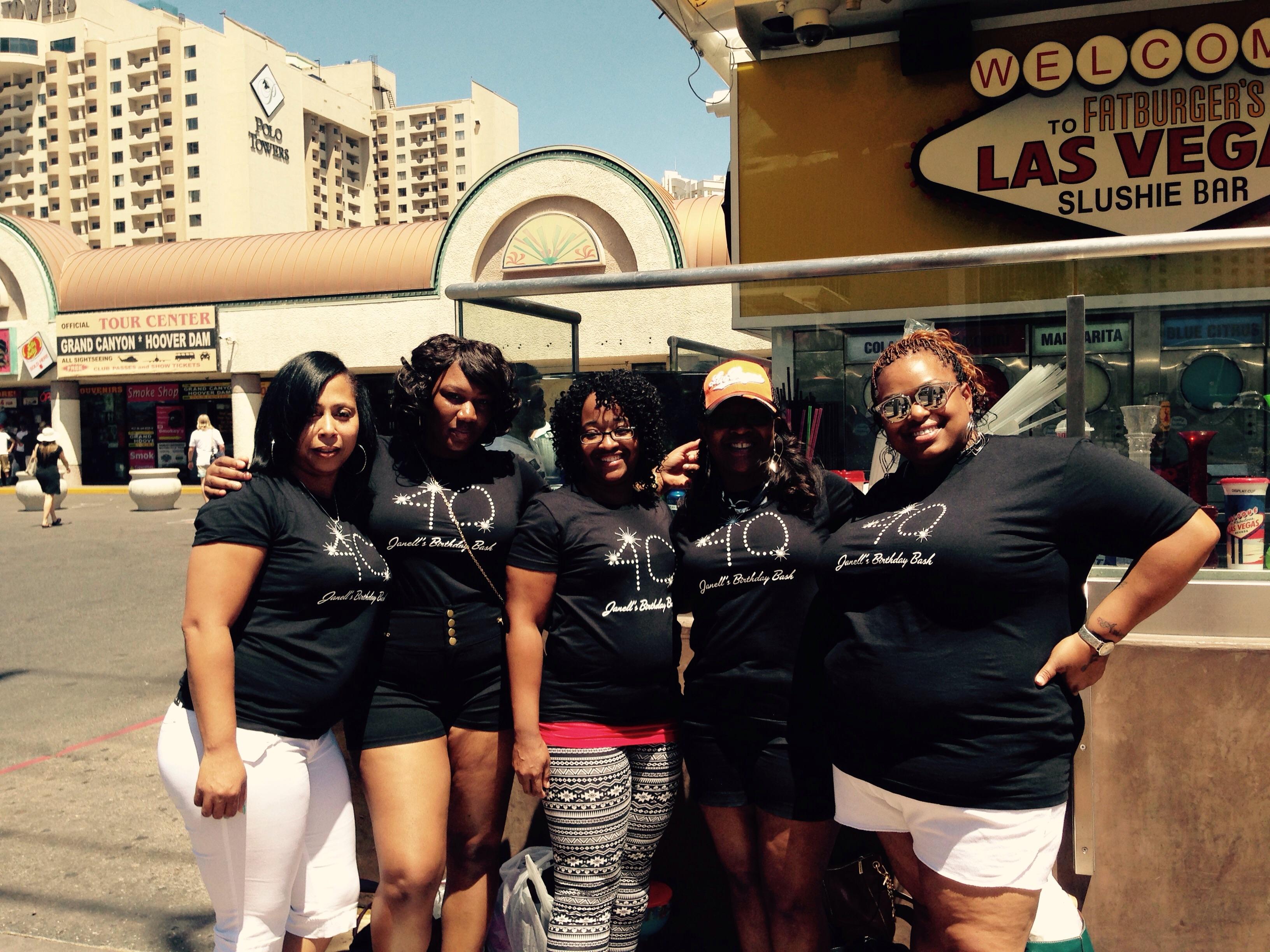 Design your own t shirt las vegas - Janell S 40th Birthday Bash T Shirt Photo