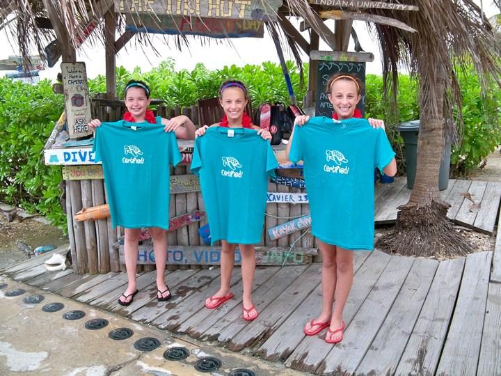 Rileigh, Avery & Mackenzie Get Jr. Open Water Scuba Certified! T-Shirt Photo