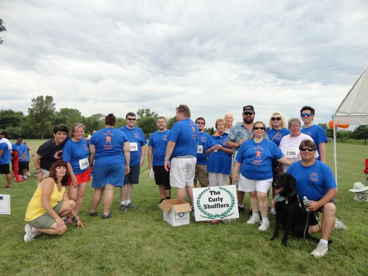 Team Curly Shufflers  T-Shirt Photo