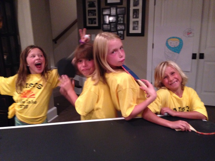 Ping Pong Tournament At The Family Reunion! T-Shirt Photo