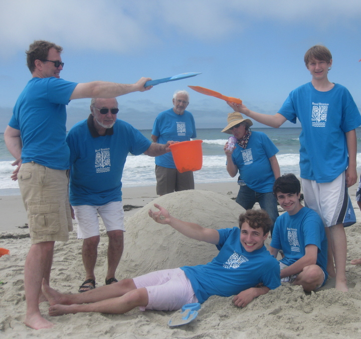 Sandcastle Contest During Family Reunion T-Shirt Photo