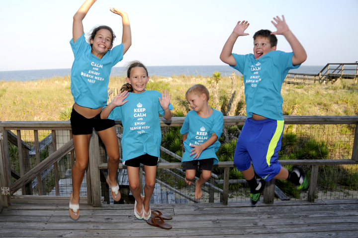 Grandchildren Having Fun At The Beach! T-Shirt Photo