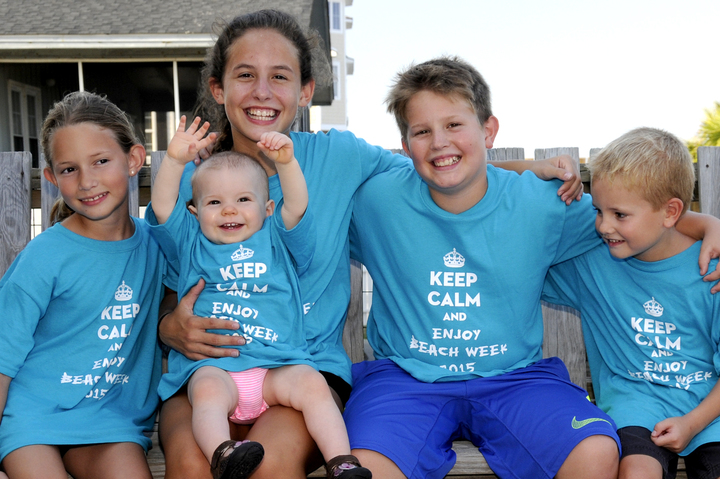 The Five Grands Are Having A Grand Time At The Beach! T-Shirt Photo