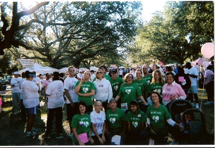 """Susan G. Komen Race For A Cure """"Bonnie's Bunch"""" T-Shirt Photo"""