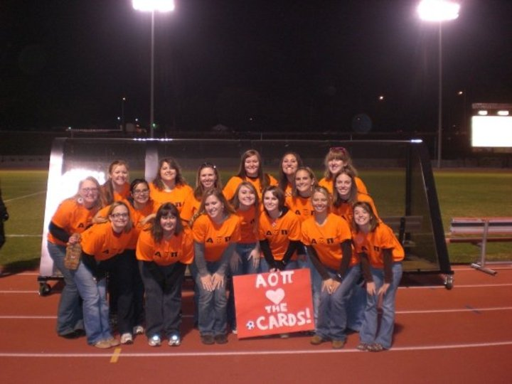 Aoii At The University Of Louisville Men's Soccer Game 10/29 T-Shirt Photo