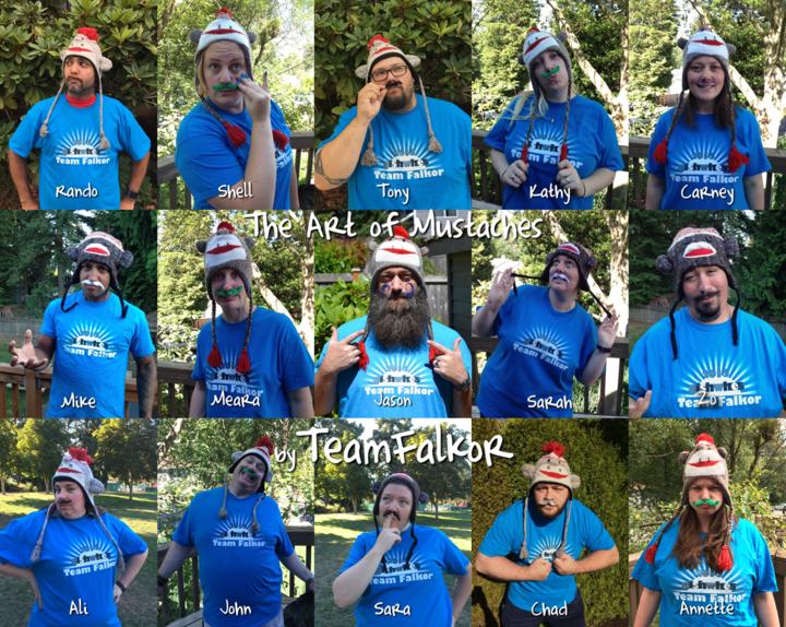 Team Falkor's Art Of Mustaches T-Shirt Photo