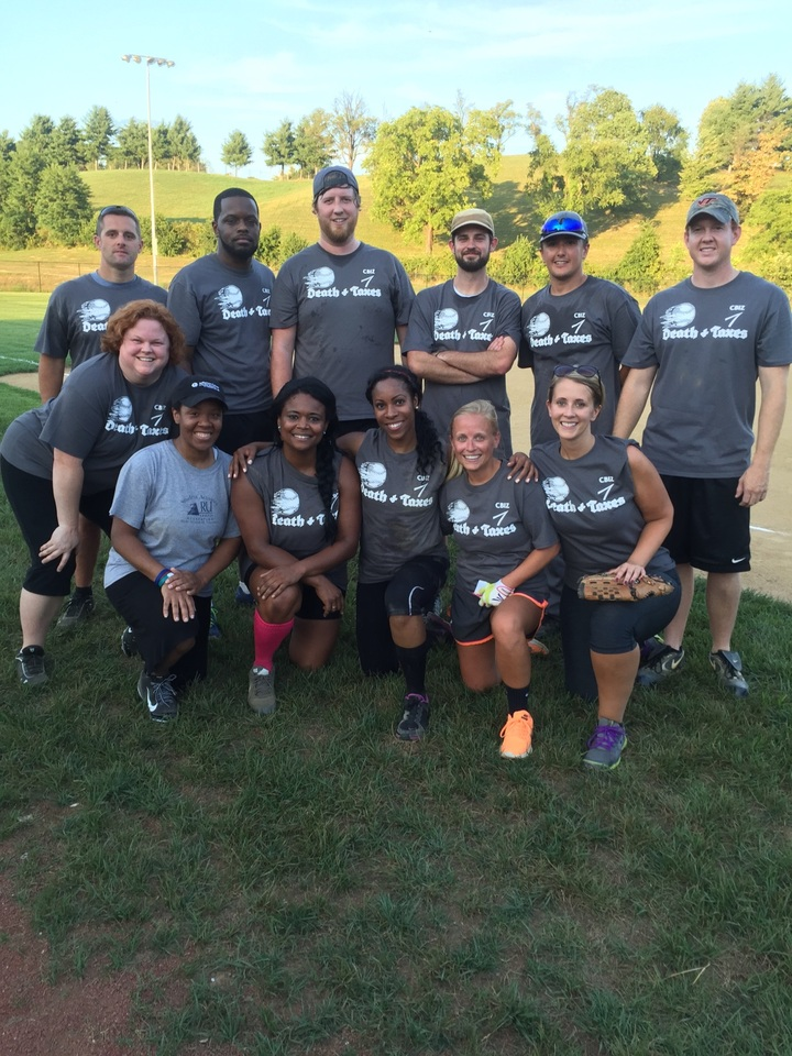 Cbiz Payroll Softball Team   Cbiz Death & Taxes T-Shirt Photo