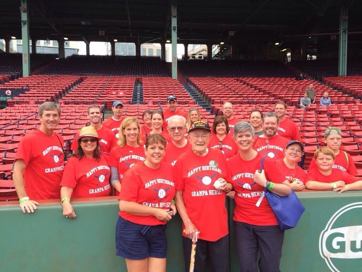 Grampa's 99th Birthday At Fenway T-Shirt Photo