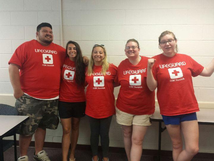 2015 Ccbc Dundalk Lifeguards T-Shirt Photo