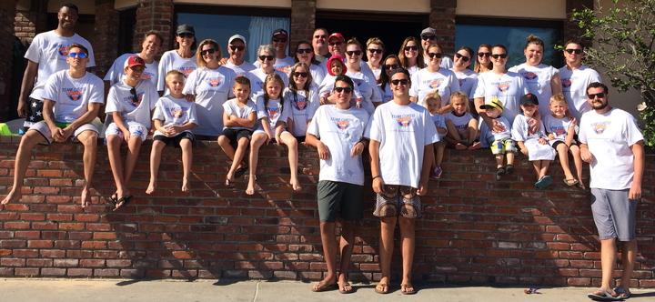 Team Curtis In Newport Beach T-Shirt Photo