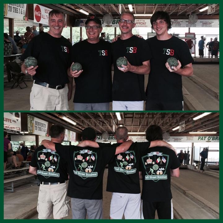 Taft Street Bombers Bocce Team T-Shirt Photo