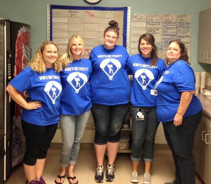 Who's In First? First Grade Teachers T-Shirt Photo