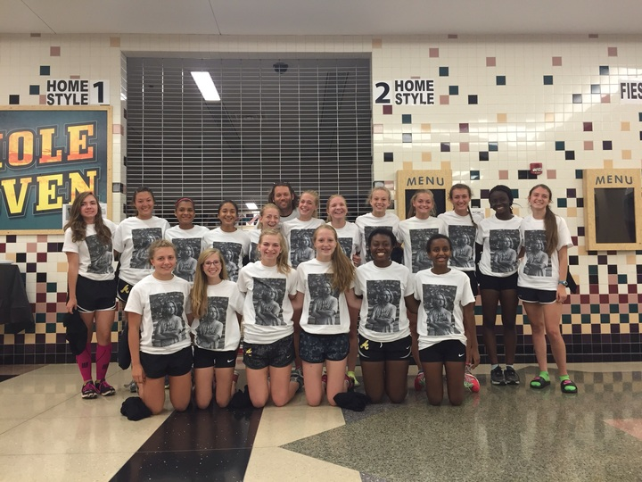 Avon Girls Cross Country Coach Surprise T-Shirt Photo