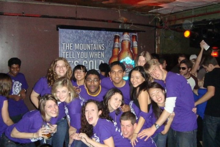 The Bar Was Filled With Our Purple T Shirts! T-Shirt Photo