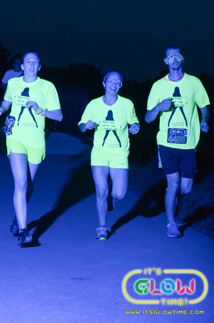 Glowing Runners! T-Shirt Photo