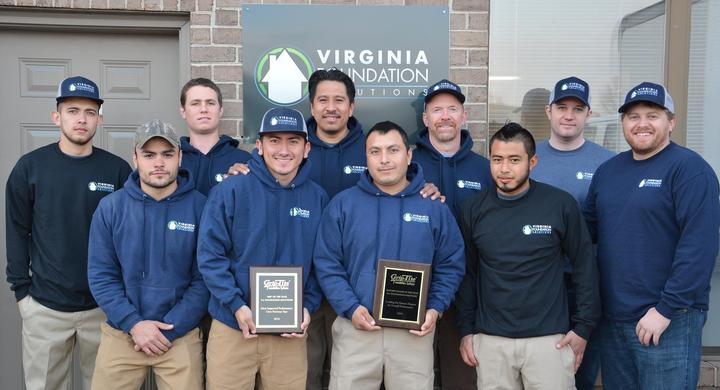 Virginia Foundation Solutions  Award Winning And Looking Good In Our Custom Ink T Shirts! T-Shirt Photo