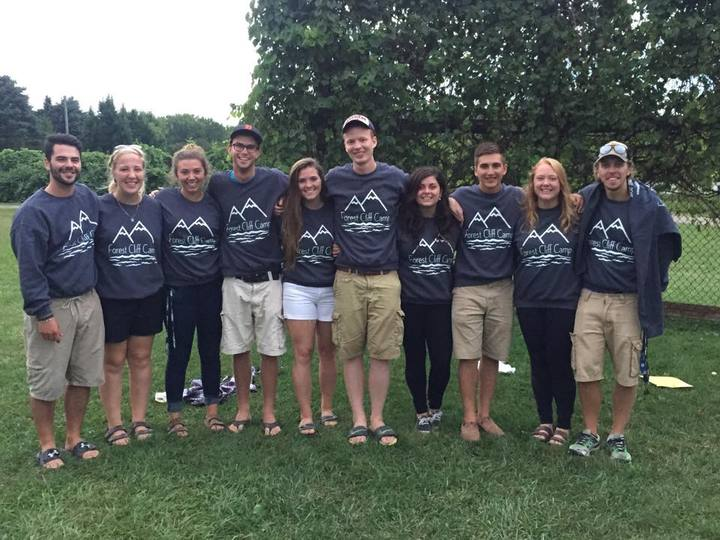 Forest Cliff Camp T-Shirt Photo