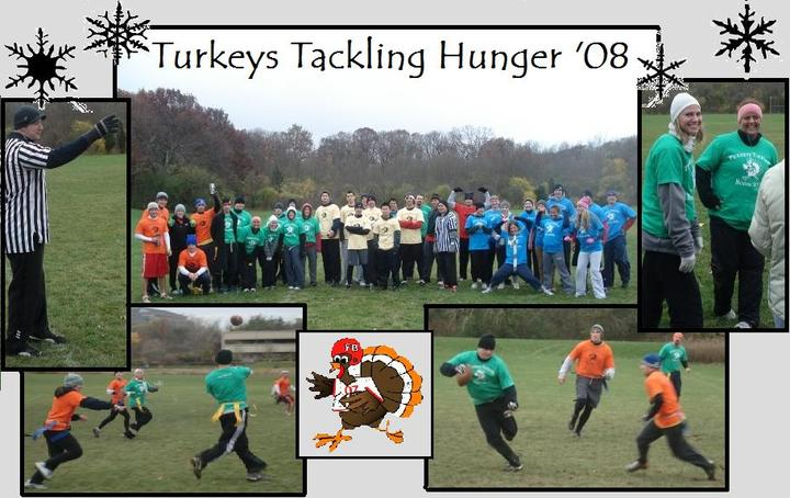 Turkeys Tackling Hunger Flag Football Tournament T-Shirt Photo