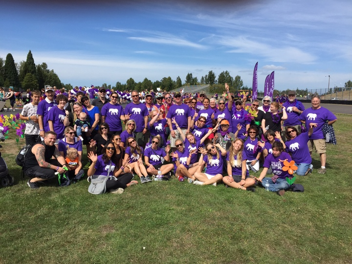 Walk To End Alzheimer's   Team Schwab  T-Shirt Photo