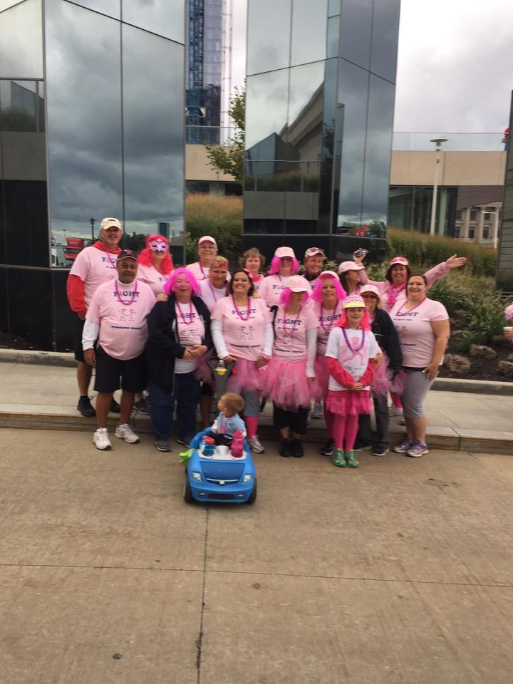 Breast Cancer Walk Celebrating Survival  T-Shirt Photo
