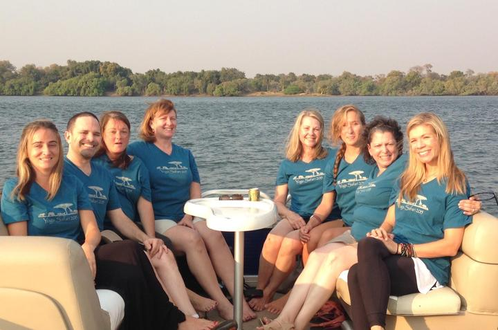 Sunset Cruise On The Zambezi In Zimbabwe T-Shirt Photo