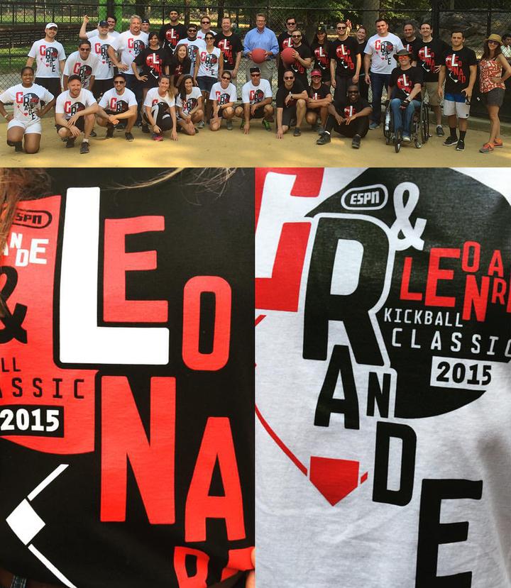 1st Annual Grande & Leonard Kickball Classic T-Shirt Photo