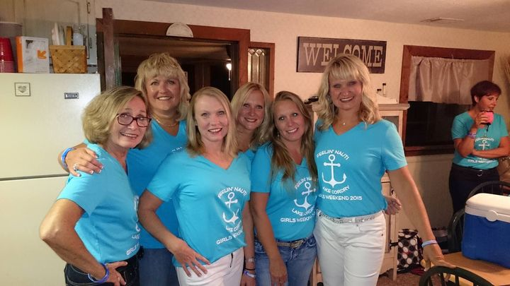 Girls Weekend At Lake Cordry T-Shirt Photo