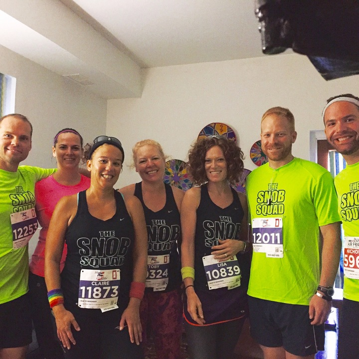 The Snob Squad In The Navy 5 Miler! T-Shirt Photo