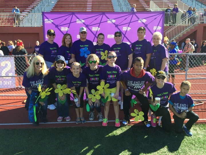 Papa's Peeps Walk To End Alzheimer's  T-Shirt Photo