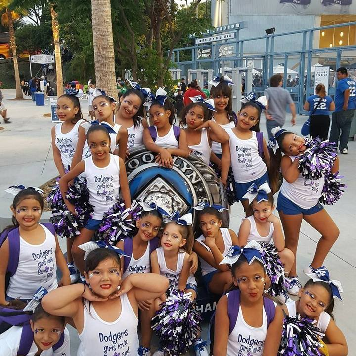 Eagles Youth Cheer @ Dodgers Stadium Cheer Night T-Shirt Photo