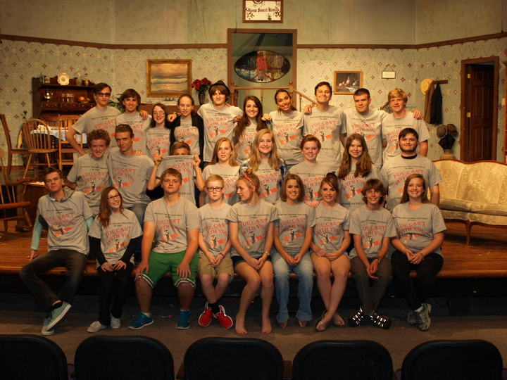 "The Cast And Crew Of Dchs' ""You Can't Take It With You"" T-Shirt Photo"
