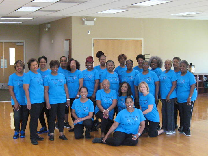 Our Blue Monarch Line Dance Class Rocks! T-Shirt Photo