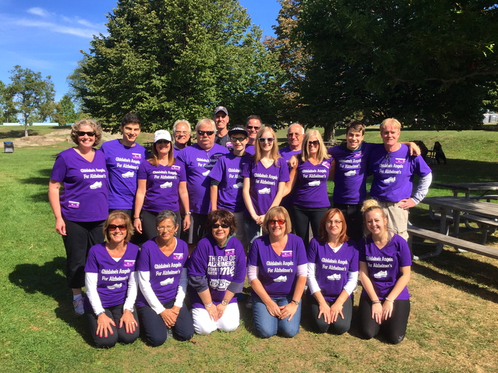 Ghislaine's Angels Team Walk To End Alzheimer's T-Shirt Photo