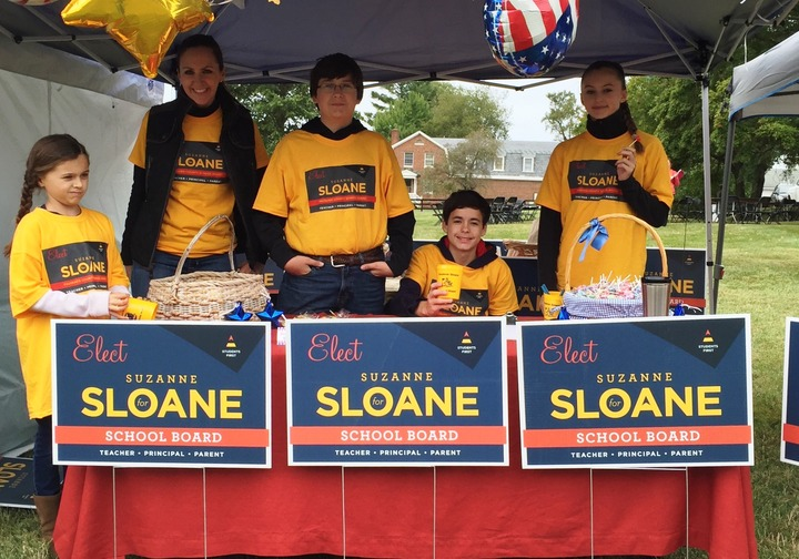 Kids Support Sloane For School Board T-Shirt Photo