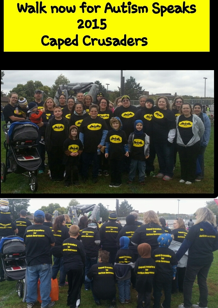 Caped Crusaders For Autism Awareness T-Shirt Photo