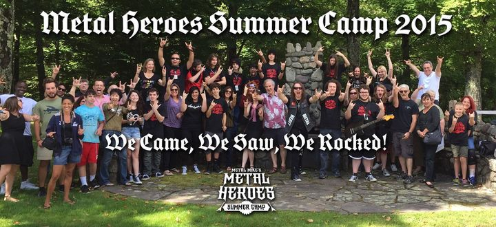 Metal Heroes Summer Camp Showing Some Custom Ink T Shirt Spirit! T-Shirt Photo