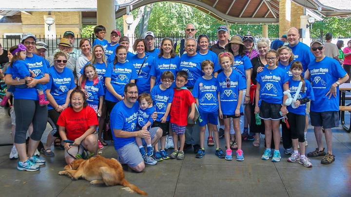 Team Super Wyatt At The Step Up For Down Syndrome Walk, St Paul, Minnesota  T-Shirt Photo