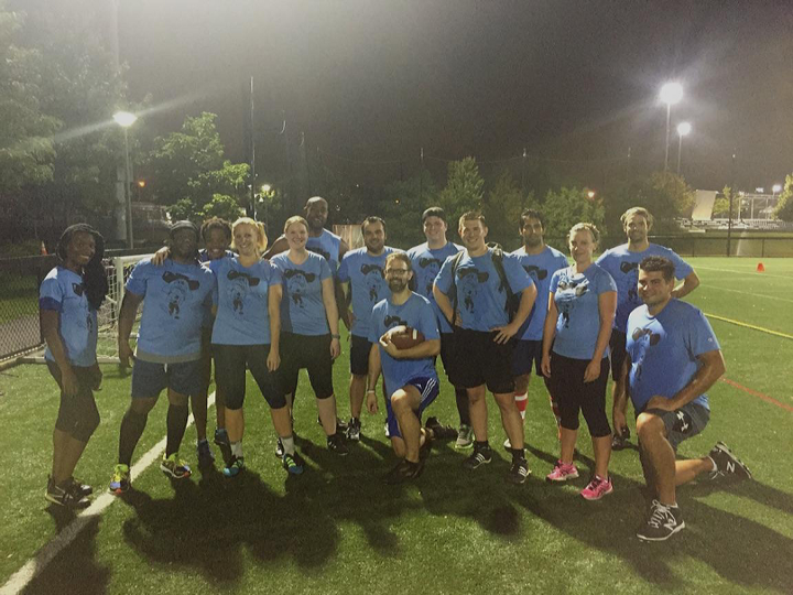 University Of Pennsylvania's Hostile Quakeover Flag Football Team T-Shirt Photo