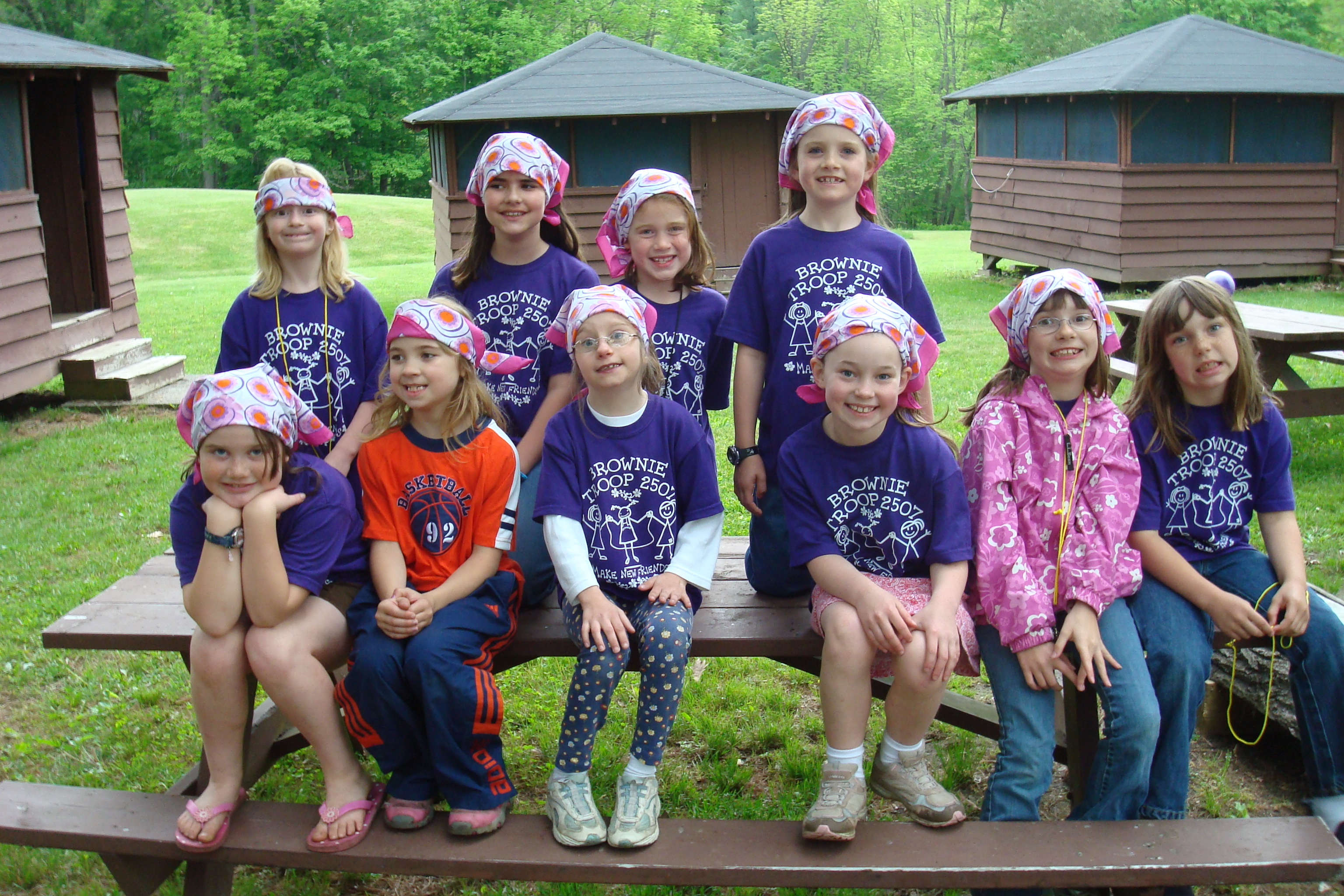 Custom T-Shirts for Girl Scouts Camping Trip