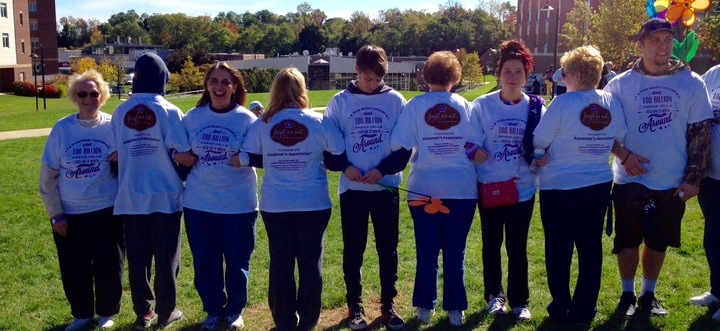 Forget Me Not Team Walk For Alzheimers T-Shirt Photo