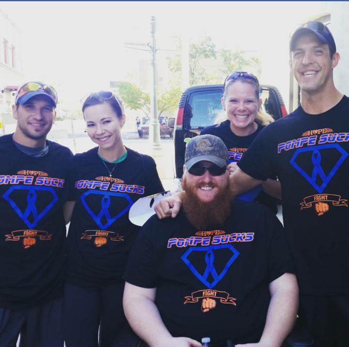 "2015 Mda Muscle Walk ""Team Pompe"" T-Shirt Photo"