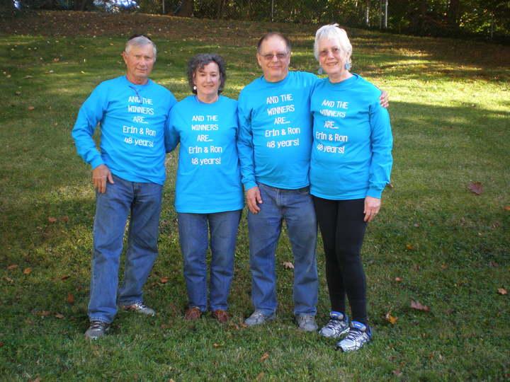 Erin & Ron Winner's 48th Wedding Anniversary T-Shirt Photo