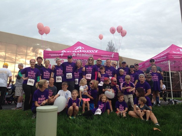 The Bailey Bunch! Racing For The Cure T-Shirt Photo