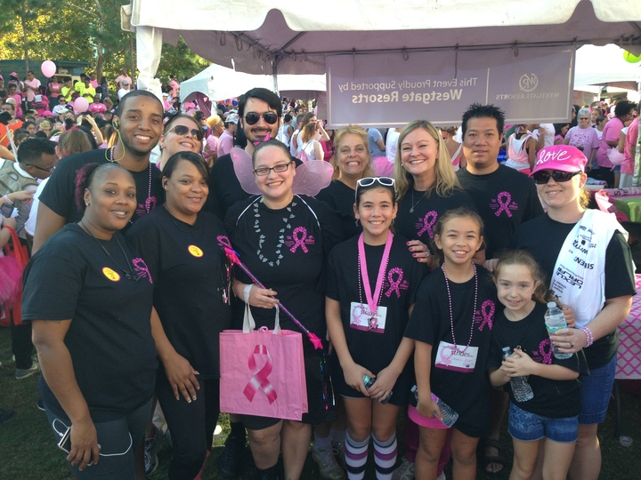 Bonnet Creek Or Bust! Making Strides Against Breast Cancer Walk 2015 T-Shirt Photo