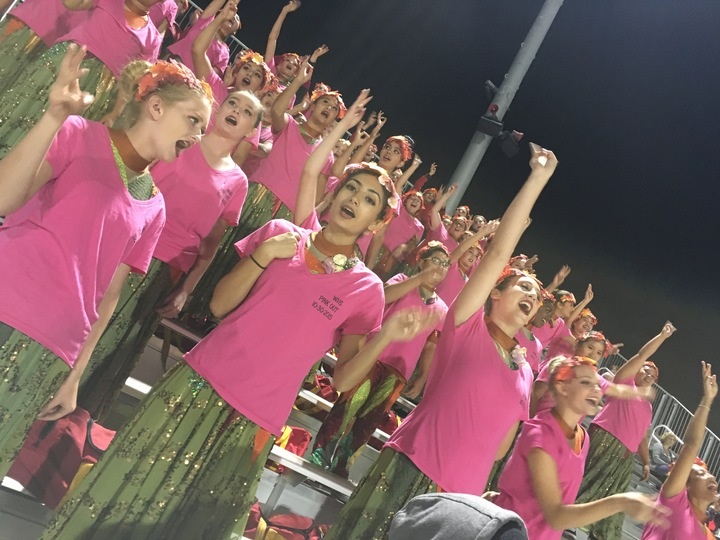 Breast Cancer Awareness Pink Out Football Game T-Shirt Photo